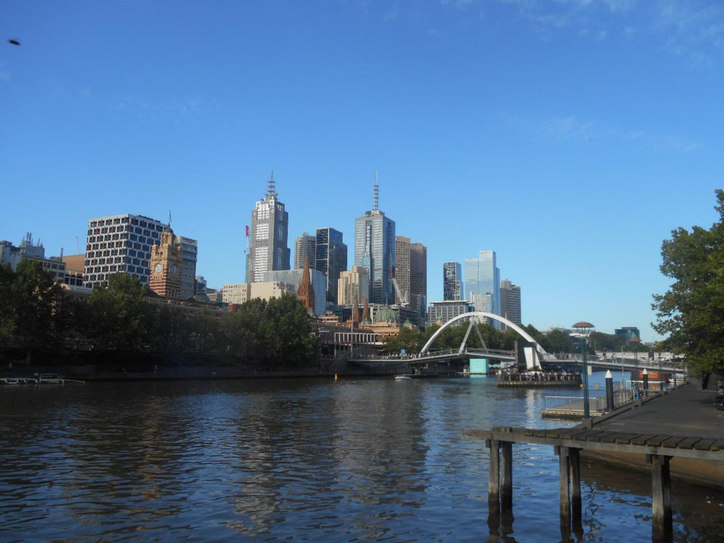 Photo of the Melbourne Skyline at Yarra River