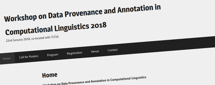 About Data Provenance and Annotation in Computational Linguistics